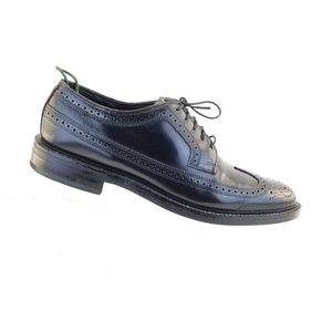 Florsheim 76398 Black Leather Lace Up Brogue  Wing